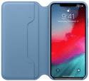 Apple kožené pouzdro Folio pro iPhone XS Max, modrošedá
