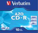 VERBATIM CD-R 80MIN 52x JEWEL 1 kus