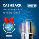Cashback až 1 000 Kč na zubní kartáčky Oral B