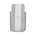 "PURO IPHONE 4 ""GOLF"" ECOLEATHER CASE GREY/ICE LOGO SILVER"