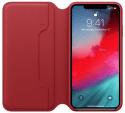Apple kožené pouzdro Folio pro iPhone XS Max, (PRODUCT)RED