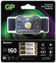 GP CH34 + 3× LR03, LED čelovka1