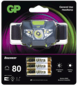 GP CH32 + 3× LR03, LED čelovka1