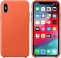 Apple kožený kryt pre iPhone Xs, oranžový