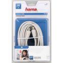Hama 42965 anténní kabel 75dB, bílý, 10m