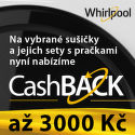 Cashback až 3 000 Kč na sušičky a sety Whirlpool