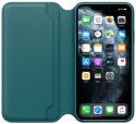 Apple Leather Folio knížkové pouzdro pro iPhone 11 Pro Max, tyrkysová