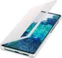 Samsung Clear View knižkové puzdro pre Samsung Galaxy S20 FE biela