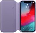 Apple kožené pouzdro Folio pro Apple iPhone Xs, fialové