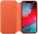 Apple kožené pouzdro Folio pro iPhone Xs Max, oranžové