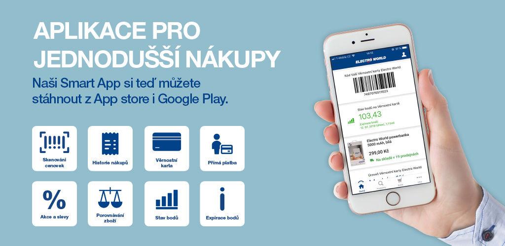 Aplikace Electro World Smart App