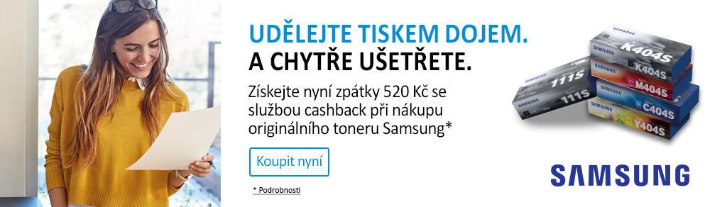 Cashback 520 Kč na nákup originálních tonerů Samsung