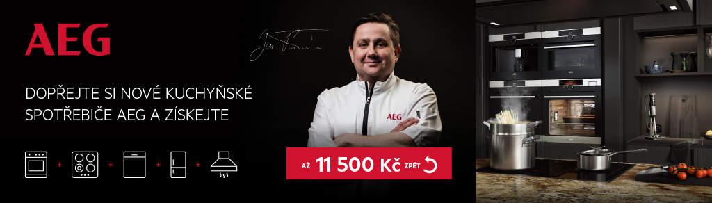 Cashback až 11 500 Kč na spotřebiče AEG Mastery