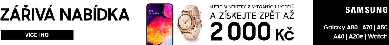 Cashback až 2 000 Kč na Samsung Galaxy A a Watch