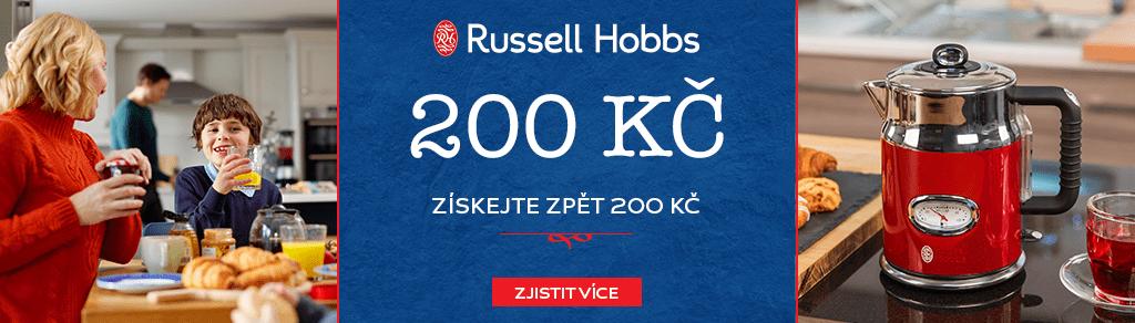 Cashback 200 Kč na výrobky Russell Hobbs