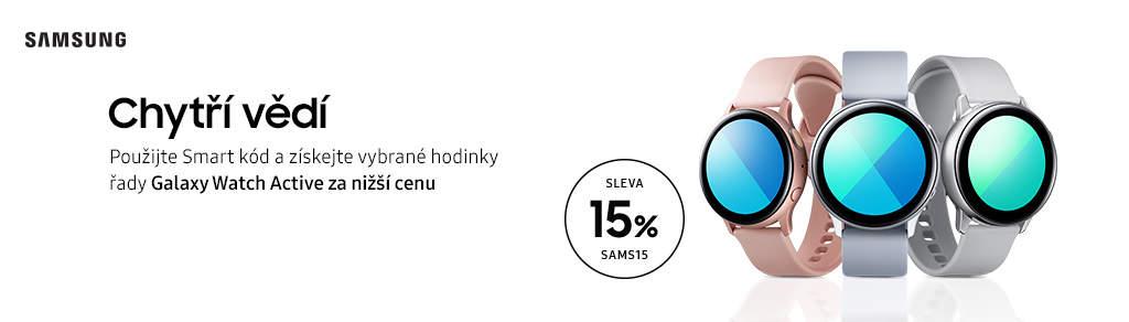Dodatečná 15 % sleva na vybrané chytré hodinky Samsung