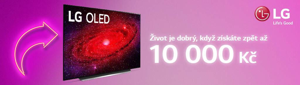 Cashback až 10 000 Kč na televize LG OLED