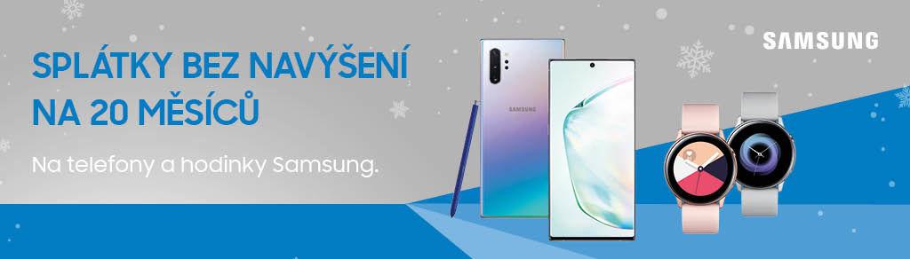 Splátky na 20 měsíců bez navýšení na mobily a hodinky Samsung