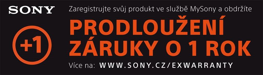 Prodloužení záruky o 1 rok na fotoaparáty Sony