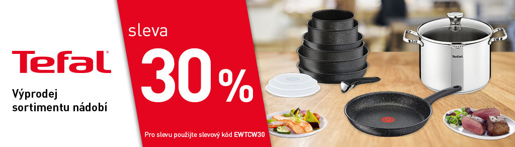 Sleva 30 % na nádobí Tefal