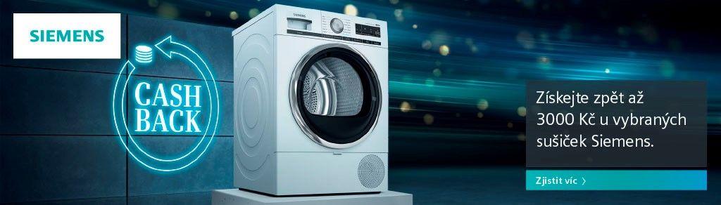 Získejte zpět až 3 000 Kč u vybraných sušiček Siemens