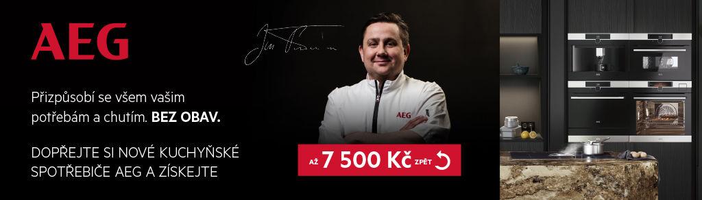 Cashback až 7 500 Kč na spotřebiče AEG Mastery