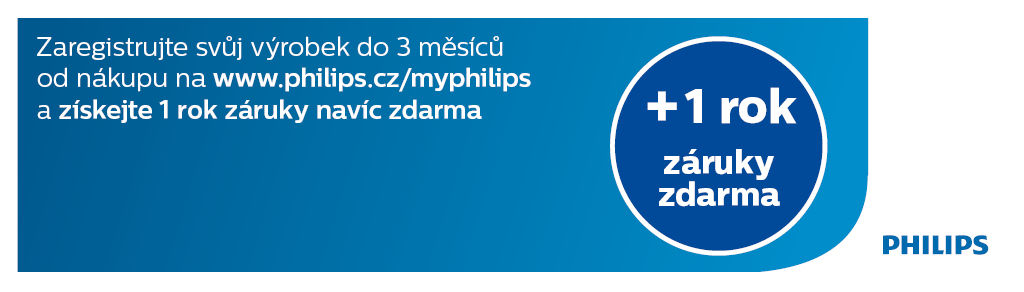 +1 rok záruky zdarma na holení Philips