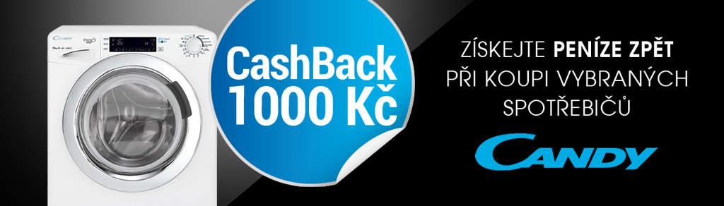 Cashback až 1 000 Kč na velké spotřebiče Candy