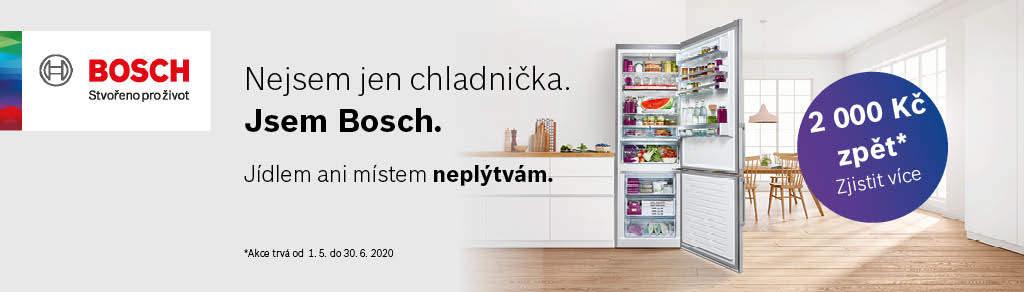 2 000 Kč zpět u vybraných chladniček Bosch