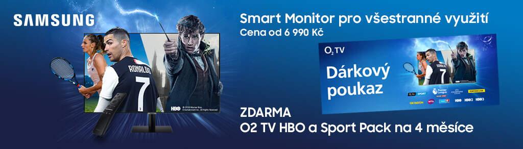 O2 TV na 4 měsíce zdarma k monitorům Samsung