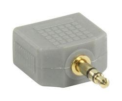 Bandridge BAP424 adaptér, 3.5mm JACK - 2x3,5mm JACK zdířka