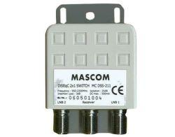 Mascom LNB-MCDSS211 - DiSEqC přepínač pro 2 LNB, venkovní provedení