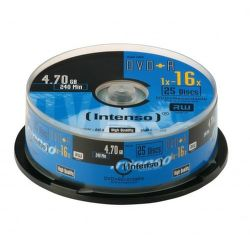 Intenso DVD+R, 4111154, 25-pack, 4.7GB, 16x, cake box
