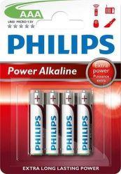 Philips Power Alkaline LR03P4B AAA, 4ks