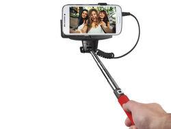 SBS selfie tyč s 3.5 mm konektorem, červená