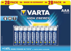 Varta High Energy AAA baterie 20ks