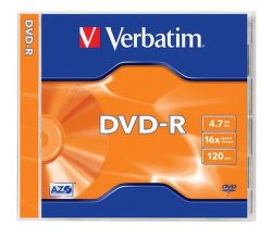 Verbatim DVD-R 4,7GB 16x jewel, 1ks