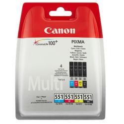 Canon CLI-551 - sada náplní C/M/Y/BK Multi Pack SEC