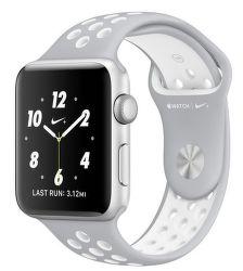 Apple Watch Nike+ 42mm (stříbrný hliník s matně stříbrným / Nike bílý sportovním řemínkem)