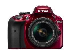Nikon D3400 + AF-P DX 18–55 f/3,5–5,6G VR (červená) vystavený kus splnou zárukou