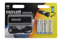 Maxell Emergency PowerBank + AA (LR6), 4ks