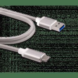 Innergie kabel USB-C a USB 3.0 (stříbrný)
