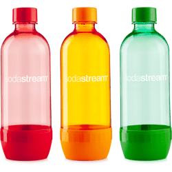Sodastream 3pack červená/oranžová/zelená náhradní fľaša (1l/3ks)