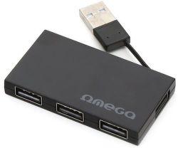 Omega 4 PORT černý USB hub