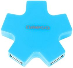 Omega 4 PORT STAR modrý USB hub