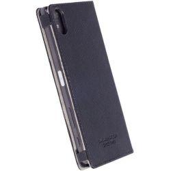 Krusell Malmo Sony Xperia XZ černé knižkové pouzdro