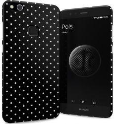 I-Paint černé tečkované pouzdro na Huawei P10 Lite