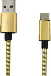 Mobilnet Micro USB kabel 2A 1m, zlatá