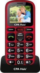 Mobilní telefon CPA Halo 16 červený s nabíjecím stojánkem