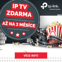IP TV zdarma až na 3 měsíce k zařízení TP-Link
